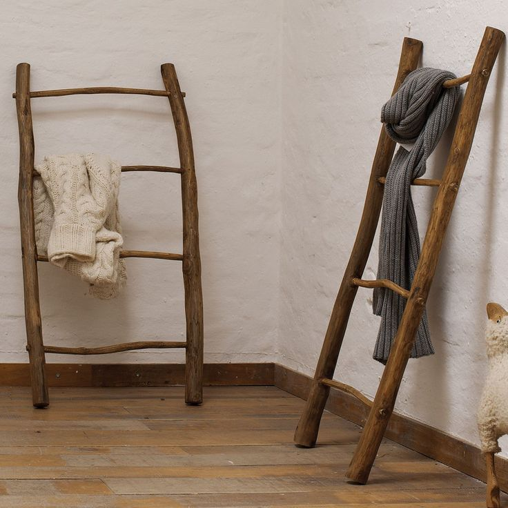 dekoleiter handtuchhalter towel teak jan kurtz m bel rustic folksy ladder ph nomenal. Black Bedroom Furniture Sets. Home Design Ideas