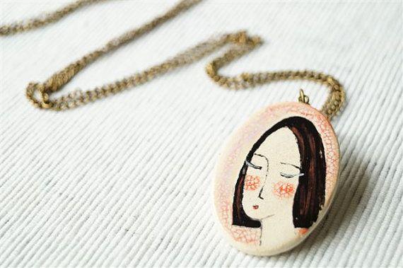 Ceramic Pendant, Necklace, Ceramic Jewelry
