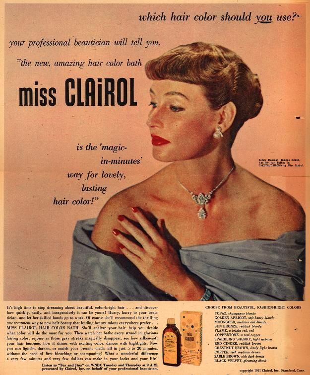 what can you do about gray hair? Miss Clairol is the 'magic-in-minutes' way to completely cover gray hair! 1951