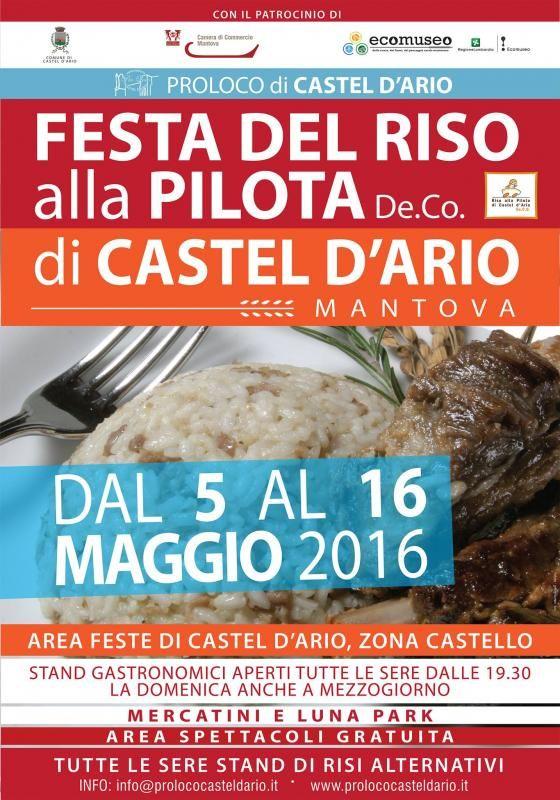 Festa Del Riso Alla Pilota Di Castel D'ario Edizione 2016