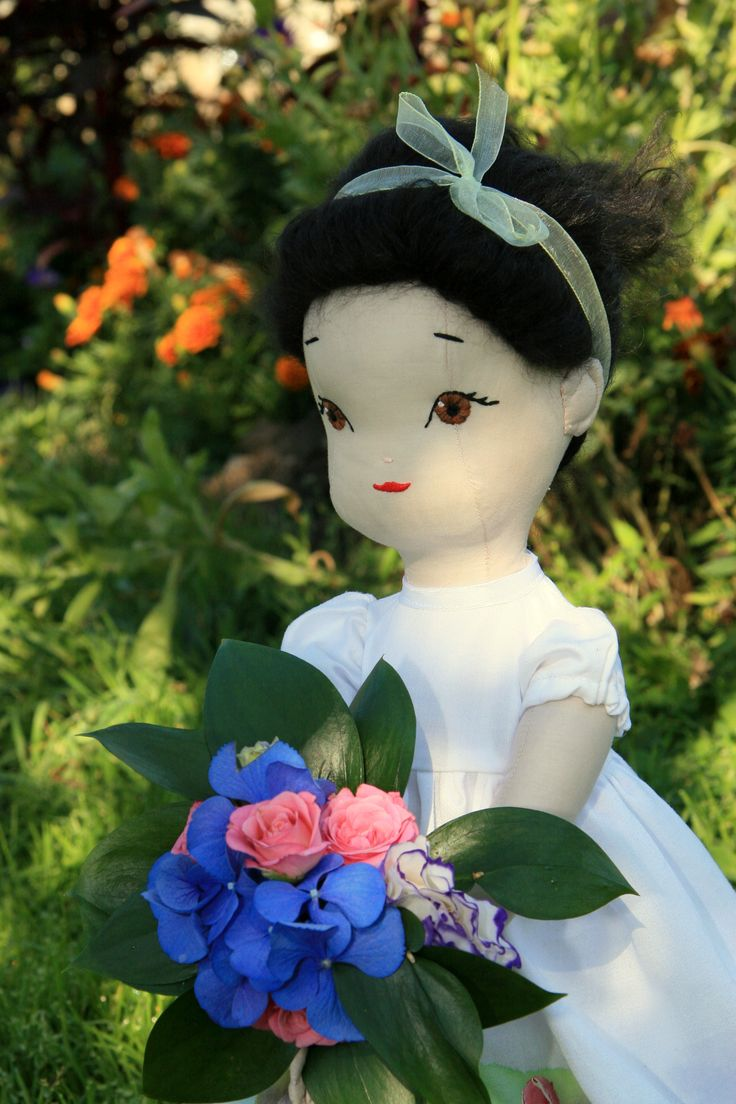 Nicole - handmade doll using a pattern (with small modifications) by Jill Hamor from her new book, Storybook Toys