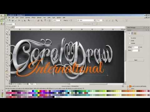 typography coreldraw speed drawing - YouTube