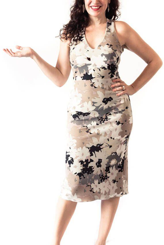 Vestido de tango de Noelia en material pique cómodo