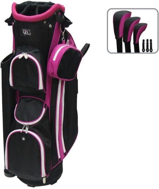 Black Hot Pink Rj Sports Ladies Boutique Golf Cart Bag