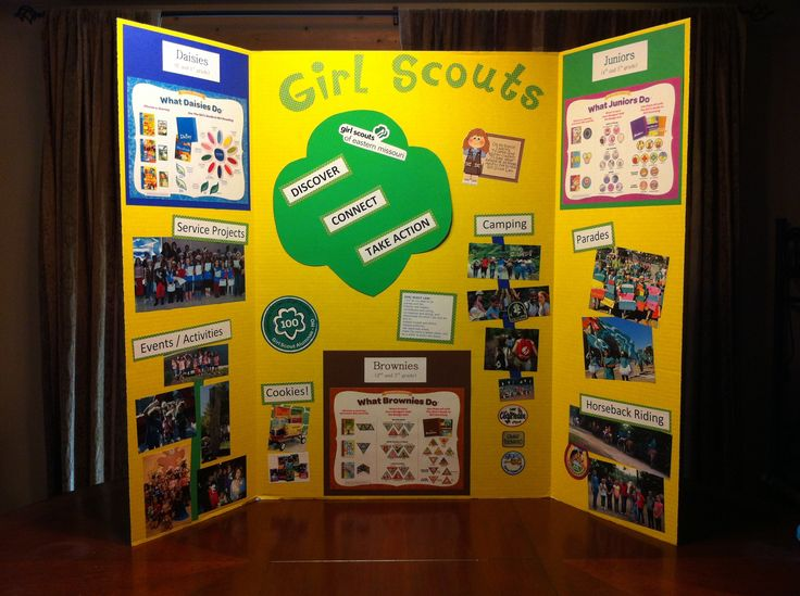Girls Scouts - Back to School / Meet the Teacher / Recruitment Night display board