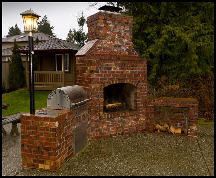 23 best old fashioned brick bbq images on pinterest for Outdoor bbq grill designs
