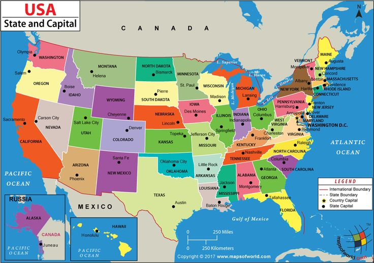 US States and Capitals Map Genealogy States capitals