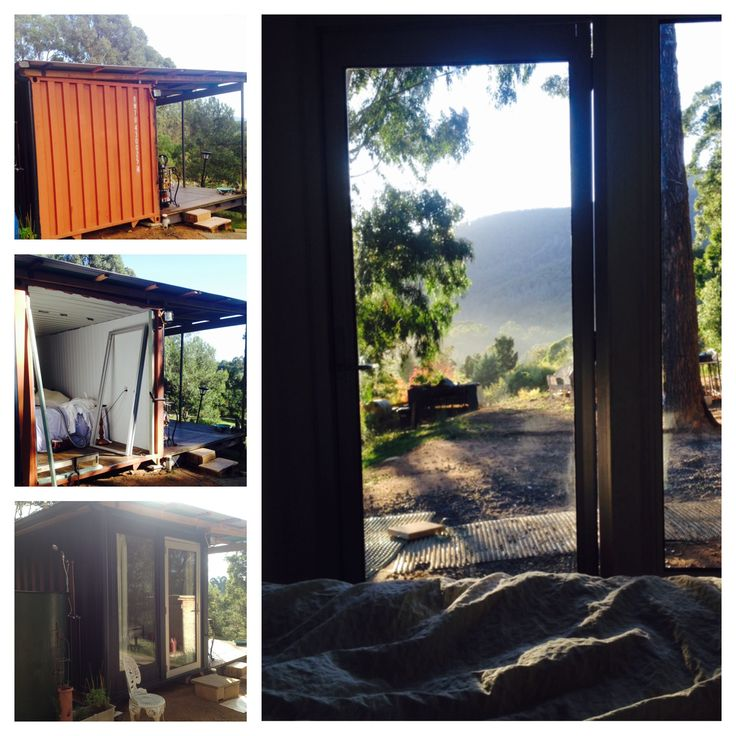 Windows and door into our shipping container home