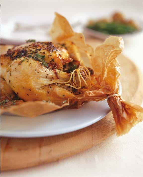 Brown-bag chicken