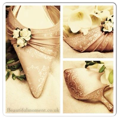 Vintage Wooden Shoe With Carvings In Heel