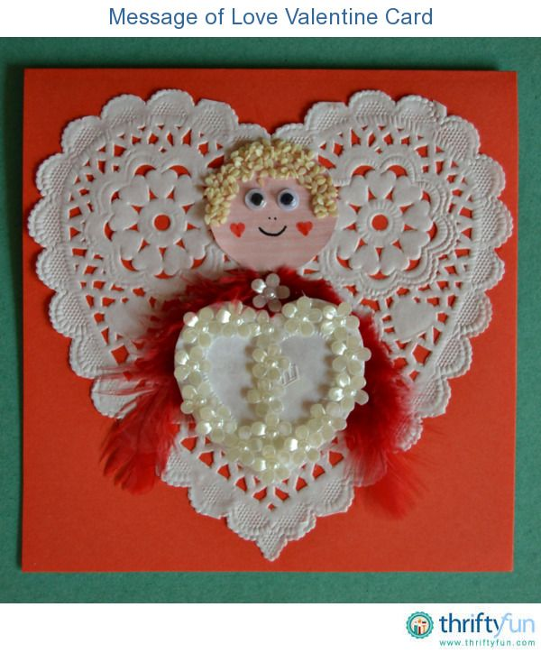Make this sweet DIY Valentine's Day card for him this year. This card sports a Cupid as the focus point of the card.