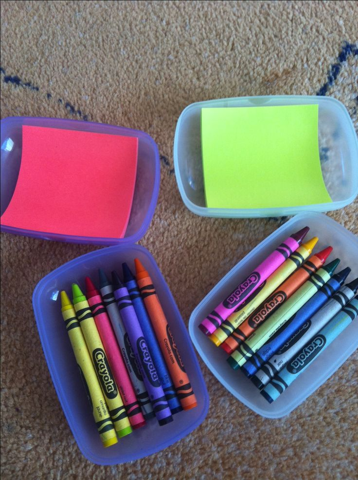 colouring boxes & DIY toddler travel toys This is a great idea for the children's table for wedding or other events