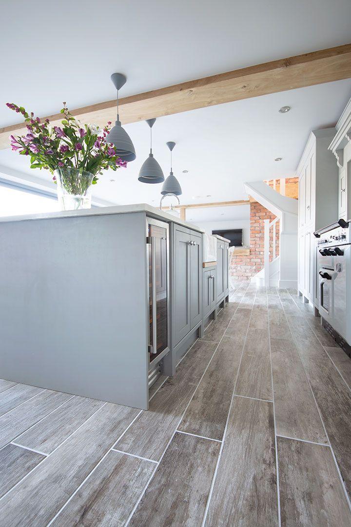 Rockpool Grey Wood Effect Porcelain Porcelain Tiles Mystonefloor In 2020 Wood Tile Floor Kitchen Grey Wood Floors Kitchen Gray Wood Tile Flooring