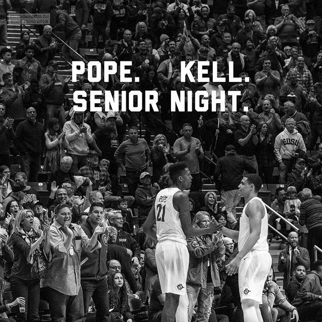 aztec_mbb Pope. Kell. Senior Night. 7pm PT Viejas Arena