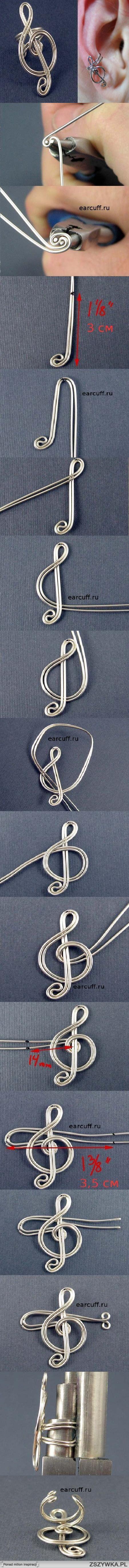 ear cuff for music lovers!  Zobacz zdjęcie muzyczna nausznica w pełnej rozdzielczości