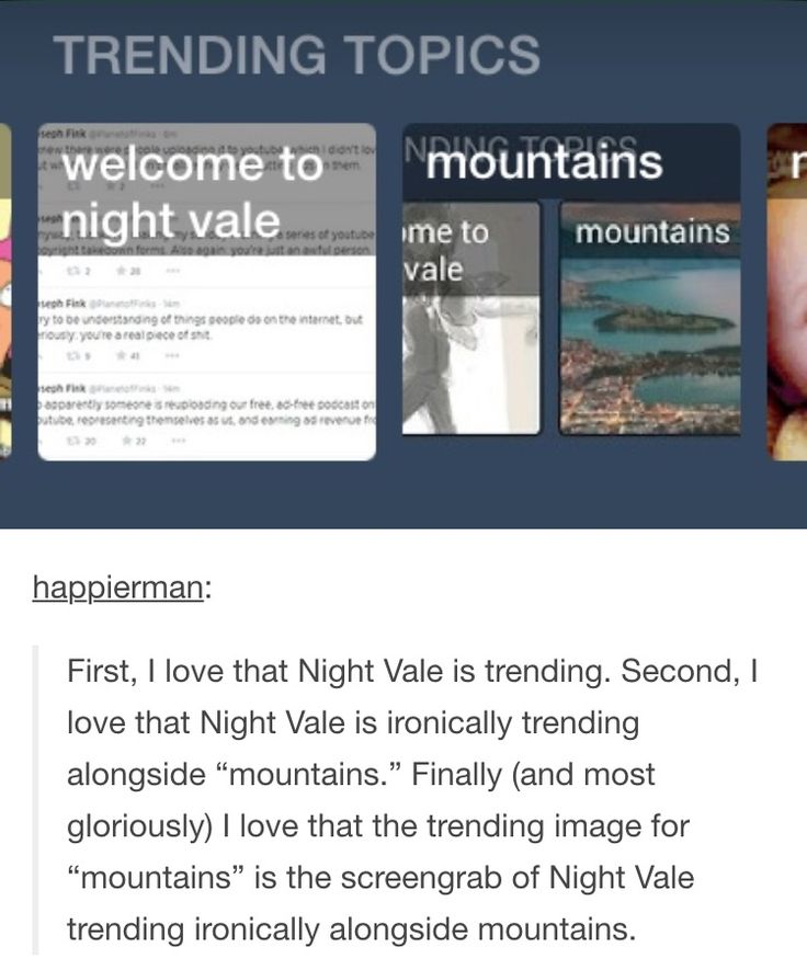 Welcome to Night Vale mountains (more like nothings) Tumblr post