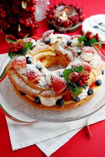 「パリブレスト クリスマス仕立て」JUNA | お菓子・パンのレシピや作り方【cotta*コッタ】