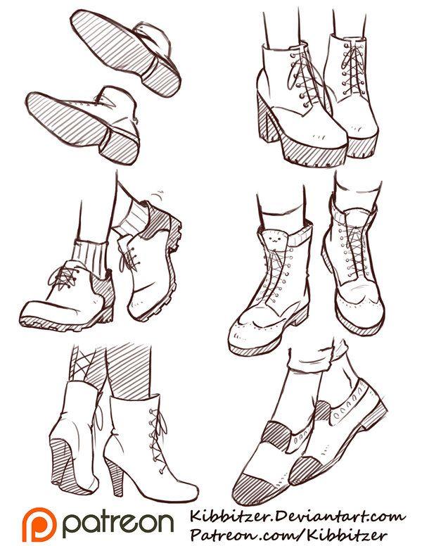 Shoes Reference Sheet 2 by Kibbitzer on DeviantArt