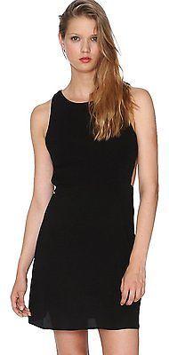 UK 14, Black, Pepe Loves Women's Anjana A-Line Sleeveless Dress NEW
