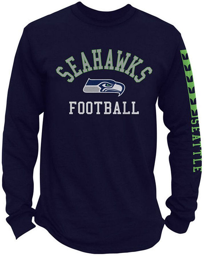 Authentic Nfl Apparel Men s Seattle Seahawks Spread Formation Long Sleeve T- Shirt 5d22dce41