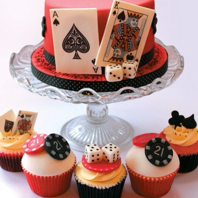 Poker Cake Decorations