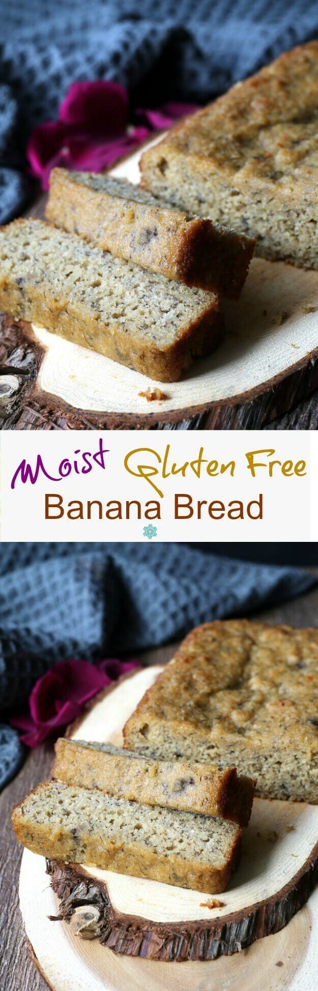 Moist Gluten-Free Banana Bread is something that can be enjoyed by Everyone. Almond flour and maple syrup help make this quick bread perfection.