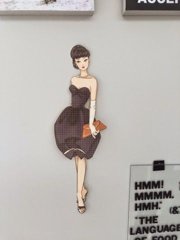 Look on the internet for retro paper dolls. Print and cut out. So cute! Dress her with different clothes.