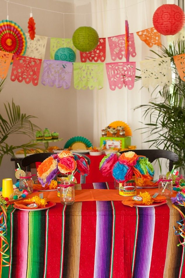 114 best images about cinco de mayo party ideas on pinterest mexican fiesta party mexican - Cinco de mayo party decoration ideas ...