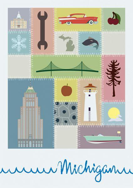 Michigan: Puree Michigan, Michigan Cut, Mittens States, Beautiful Quilt, Michigan Postcards, Michigan Art, Michigan Icons, Michigan Proud, Michigan Michigan