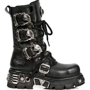 M.391MT-C1 Steel Toe Cap Boots with Flaming Skull Buckles Size 4