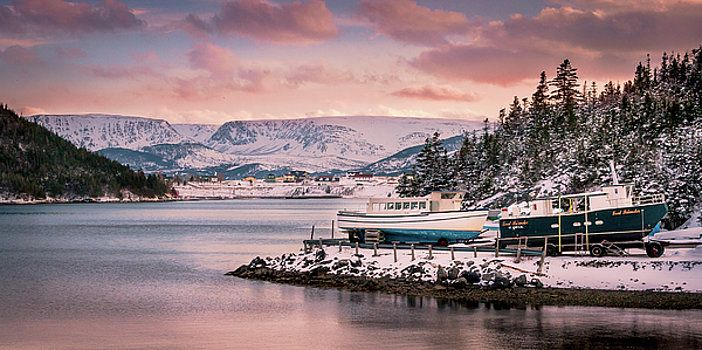 Mike Organ - Winterized Fishing Boats, Norris Point, Newfoundland