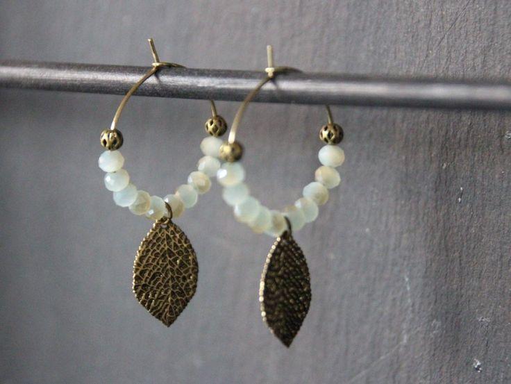 Boucles d'oreilles ethniques, petites créoles, créoles ethniques, créoles bohèmes, boucles d'oreilles romantiques, bijoux ethniques