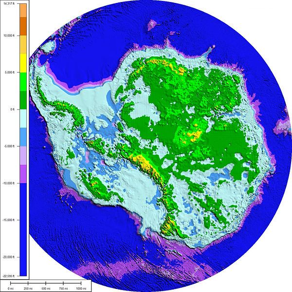 A Topographic And Bathymetric Map Of Antarctica Without Its Ice Sheets Assuming Constant Sea Levels