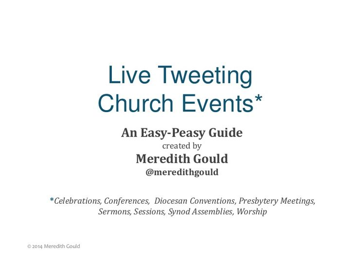 Guide to Live Tweeting Church Events - something to look into.