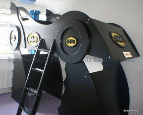 "Batman Bed. My DAUGHTERS words: ""AH! we NEED that!!!"" | Bunk Bend ..."