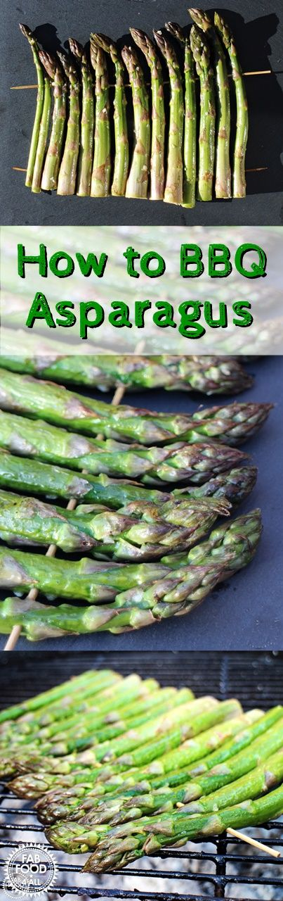 How to BBQ Asparagus i- a simple trick & a recipe! @fabfood4all