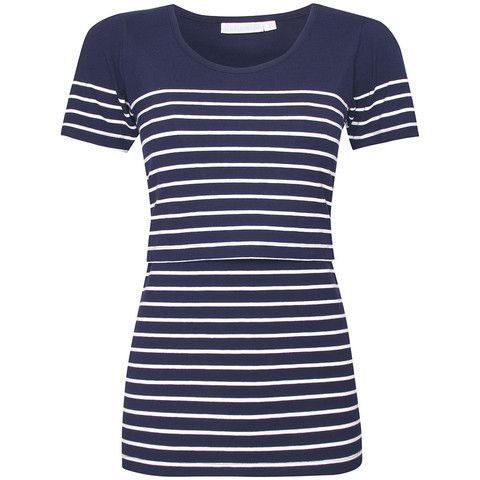 Navy Stripe Breastfeeding Top