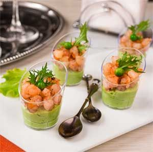 Pea Cream and Shrimp Verrine recipe