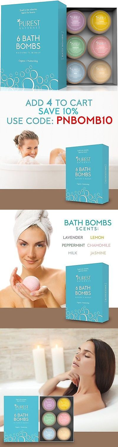 Bath Bombs and Fizzies: Purest Naturals Holiday Bath Bombs Gift Set Kit - 6 X 4 Oz Best Ultra Lush Fi... BUY IT NOW ONLY: $30.72
