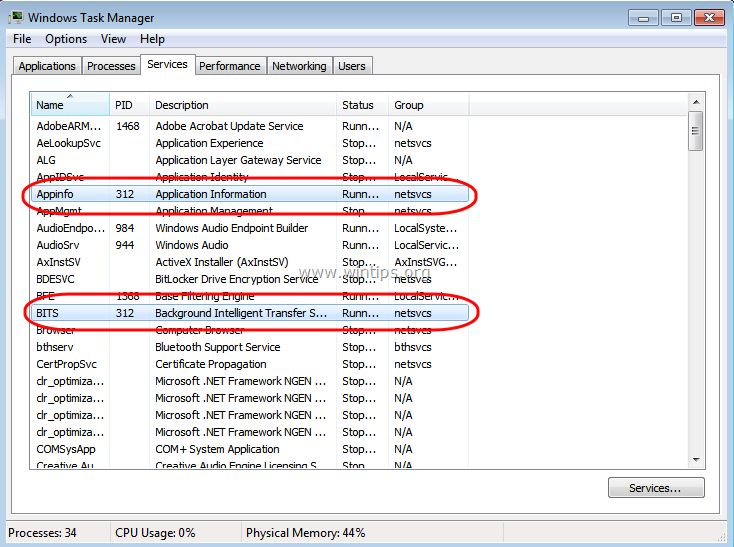 How to fix: Svchost.exe (netsvcs) memory leak or high CPU usage problems