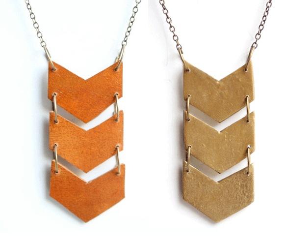 Triple Chevron Necklace - so cute!