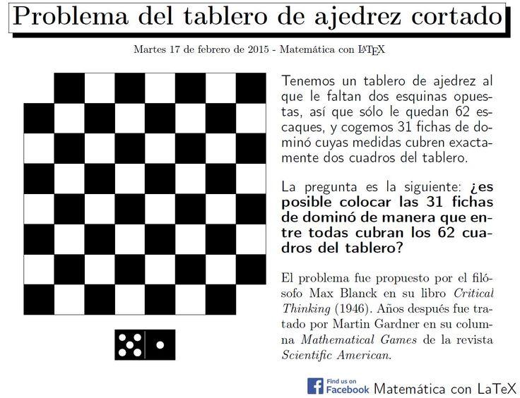 Mutilated chessboard problem. www.facebook.com/matematicaconlatex