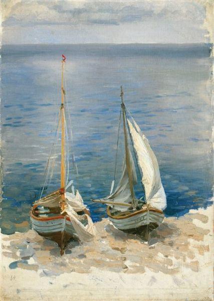 """Ferdynand Ruszczyc (1870–1936), """"Dwie łodzie żaglowe"""", 1896"""