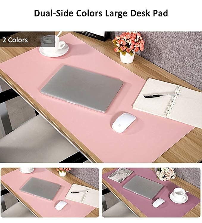 Amazon Com Large Desk Pad Mouse Pad Aisakoc 35 4x15 75 Inches Non Slip Pu Leather Desk Mouse Mat Waterproof Desk Pad Protect Leather Desk Home Desk Desk Pad