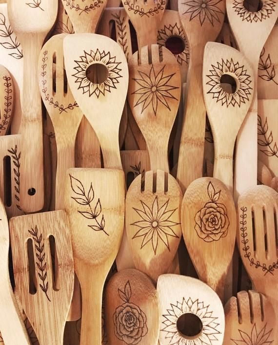 2f6afda924106 Set of Woodburned Spoons | Kitchen Gift | Gift Ideas for Her ...