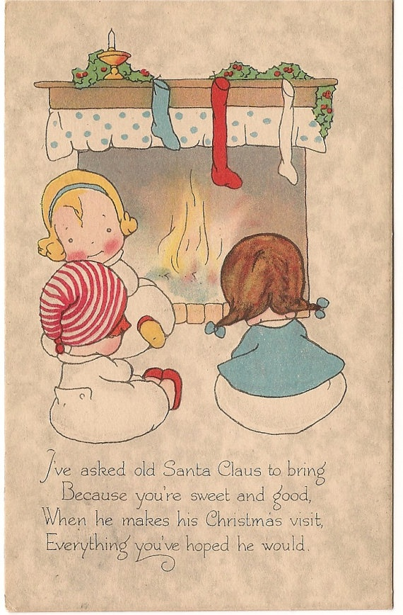 Ca 1919 Christmas Greeting Motto Postcard  by pecanhillantiques, $3.99