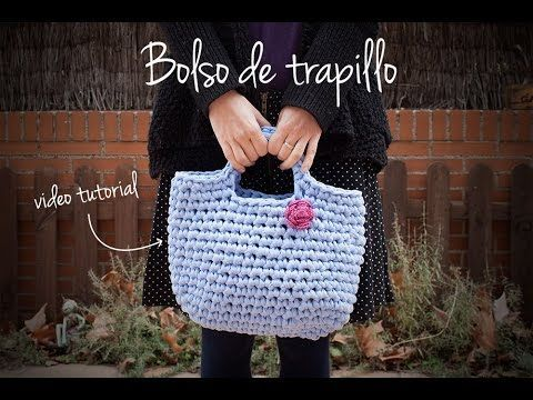 CROCHET- Cómo hacer un bolso de trapillo | How to make a zpagetti crochet handbag