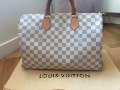 Sac Louis Vuitton Speedy Blanc