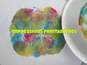 Impressions printanières - Bricolages pour enfants - par Gribouille éducatif
