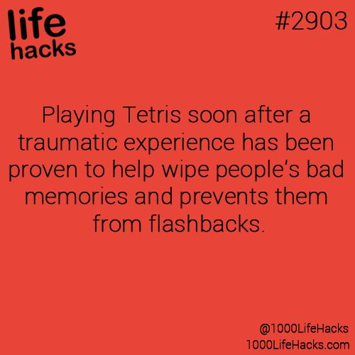Play tetris after traumatic experience to help erase bad memories